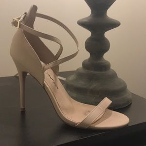 Strappy nude Chinese Laundry heels
